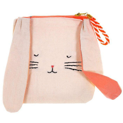 Meri Meri Natural Cotton Canvas Kid's Bunny Pouch orange