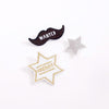 lifestyle_2, Meri Meri Natural Cotton Canvas & Felt Embroidered Brooch Set sheriff badges mustache