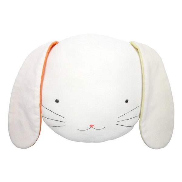 lifestyle_3, Meri Meri Cotton Velvet Animal Nursery Cushions white neon orange yellow bunny