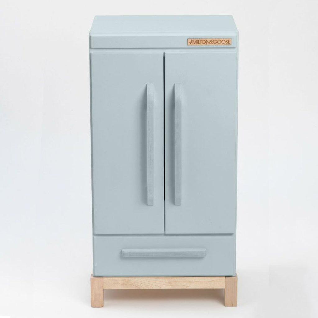 Milton & Goose Grey Refrigerator Children's Pretend Play Kitchen Toy