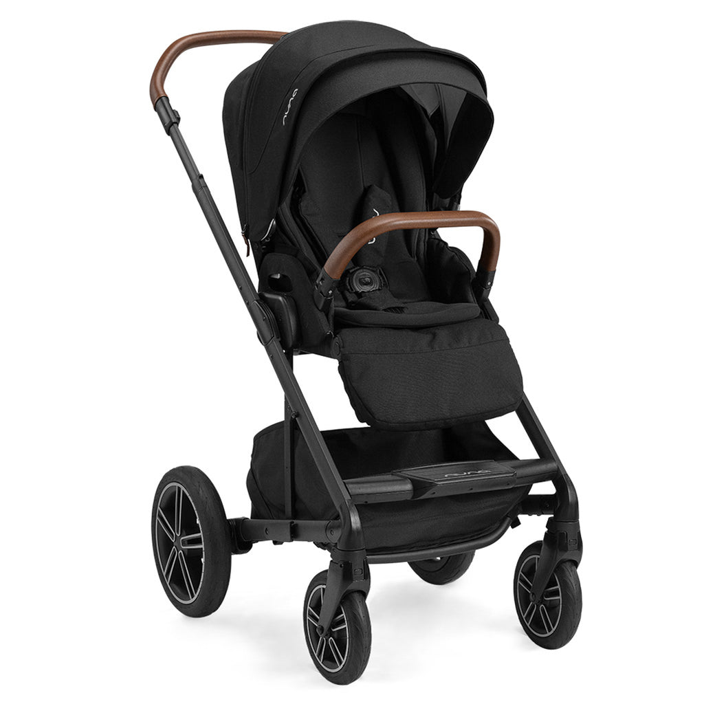 Nuna Caviar Mixx Next Stroller Compact One-Touch Infant Baby Travel System black