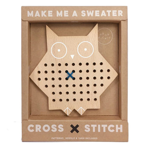 Moon Picnic Cross Stitch Friends Children's Arts & Crafts Activity Toy owl