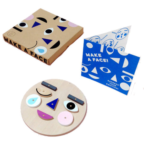 Moon Picnic Make a Face Children's Expression & Emotion Wooden Toy