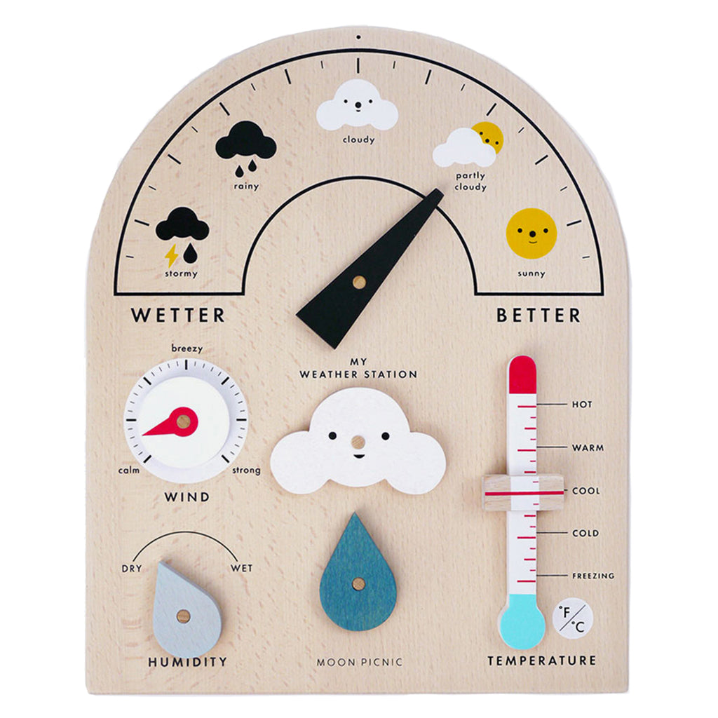 Moon Picnic Weather Station Children's Educational Pretend Play Toy