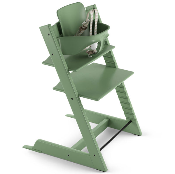 Stokke Wooden Adjustable Ergonomic Tripp Trapp High Chair moss green