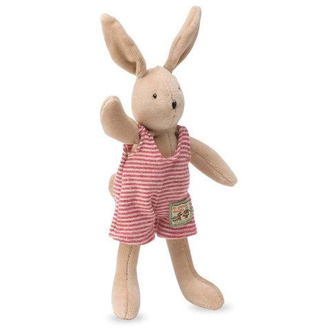 Moulin Roty La Grande Famille - Tiny Stuffed Animals rabbit sylvain beige red stripes