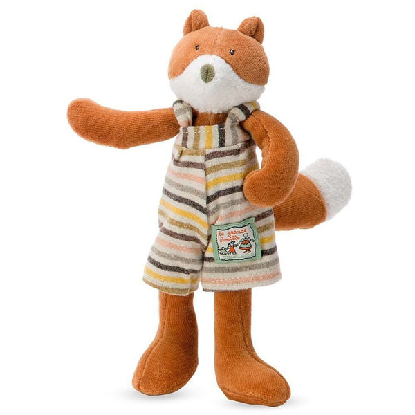 Moulin Roty La Grande Famille - Tiny Stuffed Animals fox gaspard orange striped coveralls
