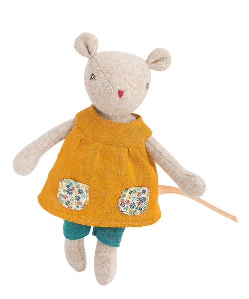 lifestyle_5, Moulin Roty La Famille Mirabelle Rabbit & Mice Pretend Play Dolls baby mouse groseille