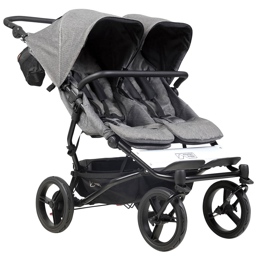Mountain Buggy® Luxury Collection Duet™ Compact Side-by-Side Stroller herringbone grey black