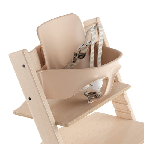 Stokke Adjustable Ergonomic Tripp Trapp Chair Baby Set with Harness natural beige