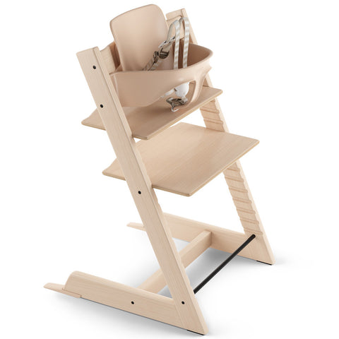 Stokke Wooden Adjustable Ergonomic Tripp Trapp High Chair natural beige