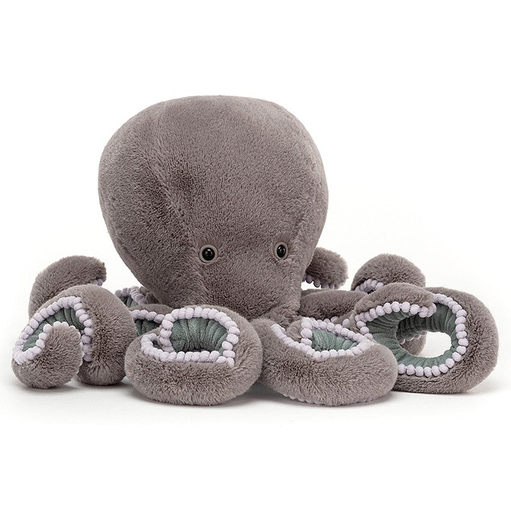 Jellycat Neo Octopus Ocean Life Plush Children's Stuffed Animal Toys light grey purple
