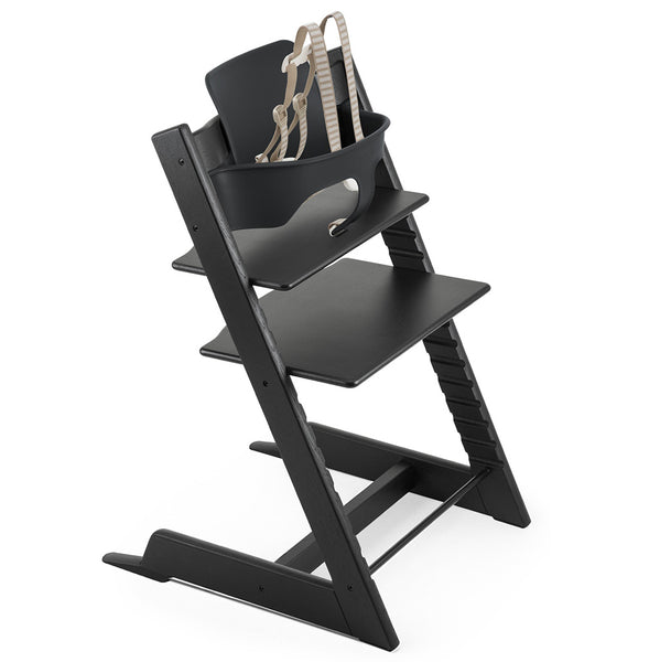Stokke Wooden Adjustable Ergonomic Tripp Trapp High Chair oak black