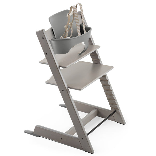Stokke Wooden Adjustable Ergonomic Tripp Trapp High Chair oak grey wash