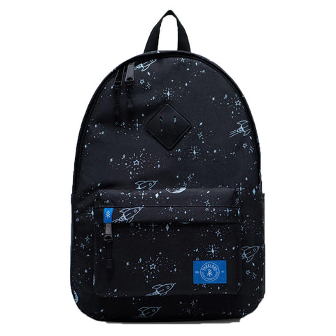 Parkland Children's Bayside Backpack space dreams black white stars constellations