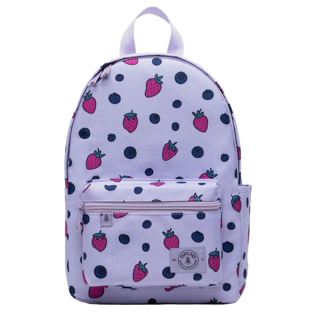 Parkland Edison Children's Backpack berries strawberries blueberries purple