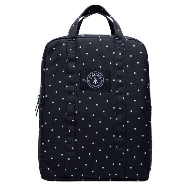 Parkland Remy Children's Lunch Bag polka dots black bag white dots