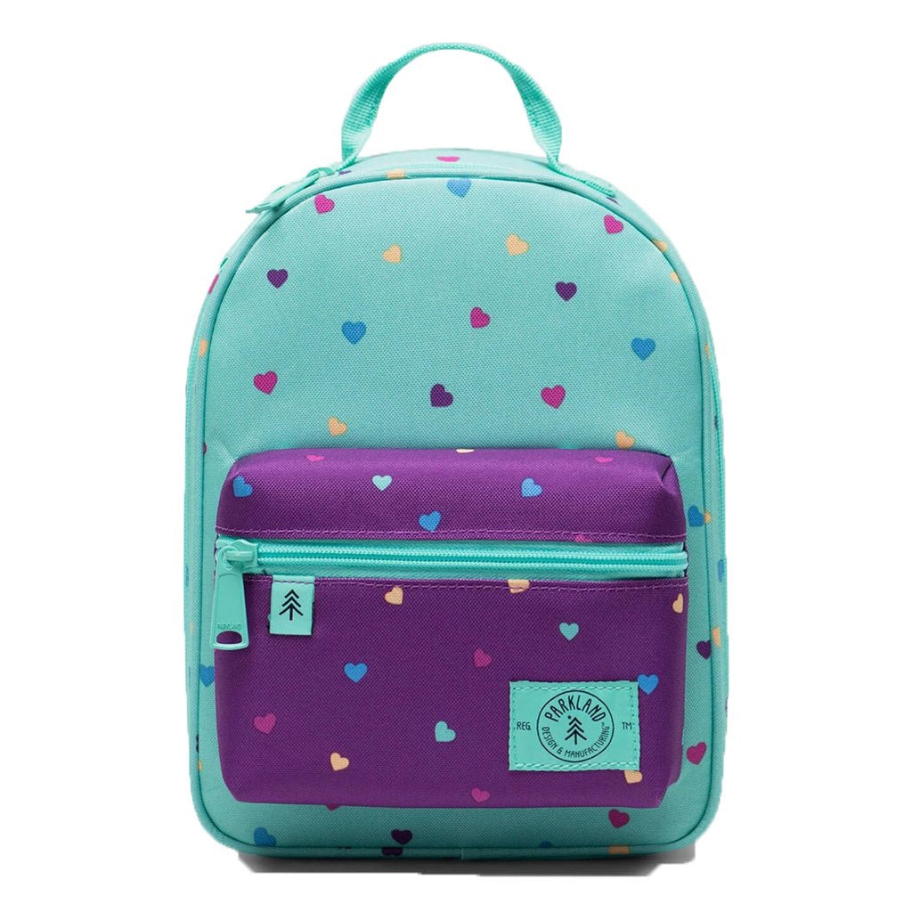 Parkland Children's Rodeo Lunch Kit candy hearts mint green light purple multicolored polka-dots