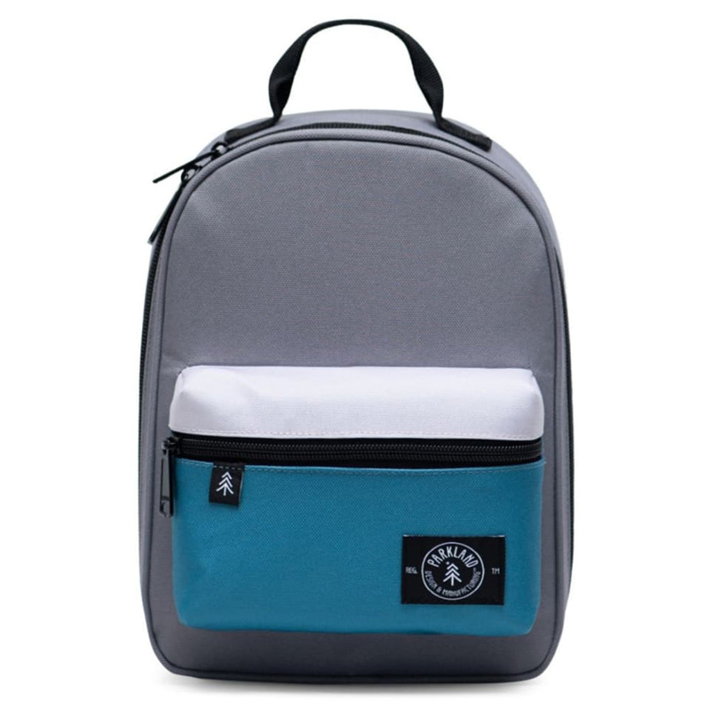 Parkland Dust Storm Rodeo Lunch Kit Children's Insulated Bags light grey white teal blue color block