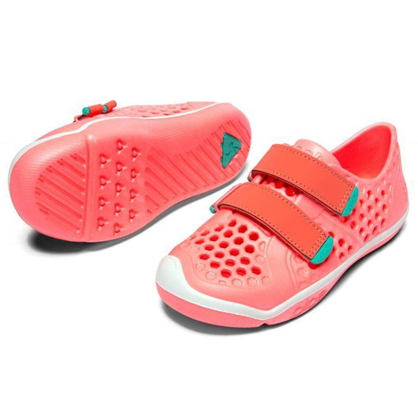 PLAE Mimo 100% Waterproof Sandal Shoes for Children coralin coral pink teal
