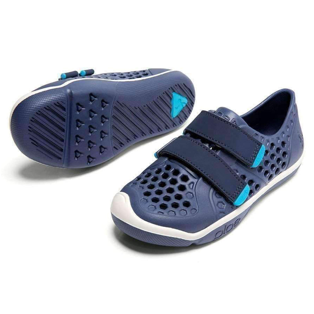 PLAE Mimo 100% Waterproof Sandal Shoes for Children crown blue dark navy blue aqua