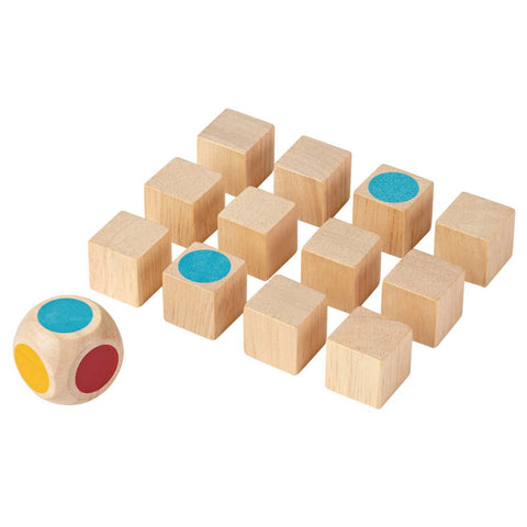 Plan Toys Children's Wooden Pocket-Sized Mini Memo Game Set multicolored natural beige
