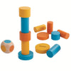 lifestyle_1, Plan Toys Children's Portable Mini Block Stacking Game Set multicolored