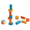 lifestyle_2, Plan Toys Children's Portable Mini Block Stacking Game Set multicolored