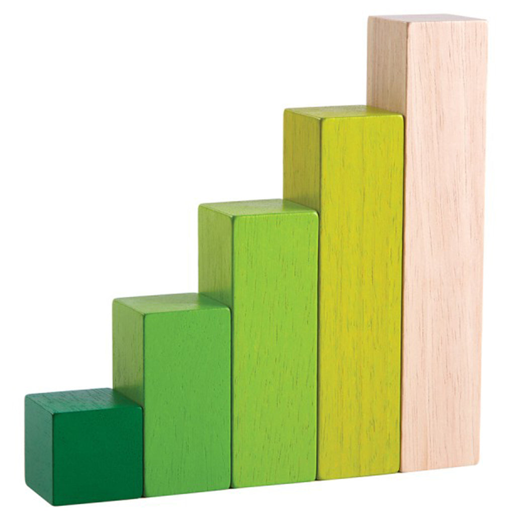 Plan Toys Ordering Blocks Children's Educational Wooden Toy Green