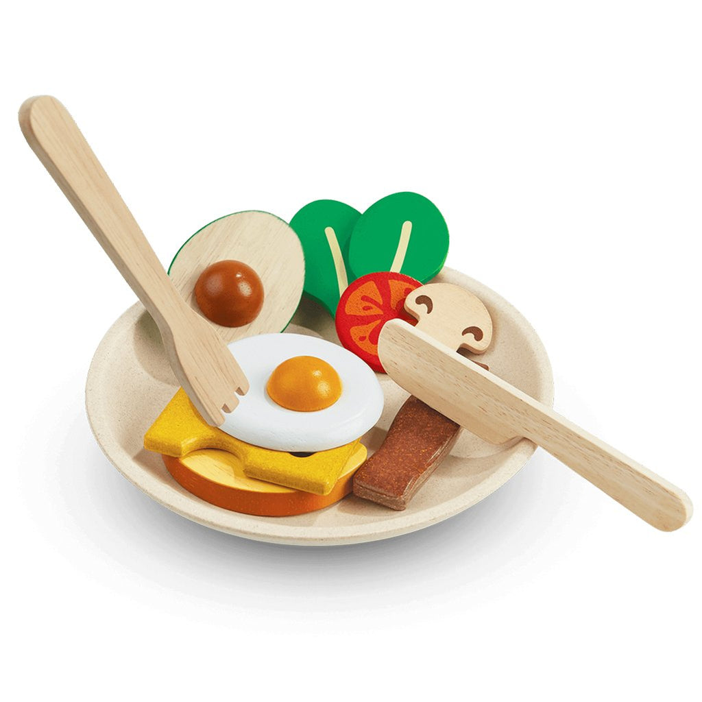 Plan Toys Breakfast Menu Children's Pretend Play Kitchen Food Toy multicolored assortment