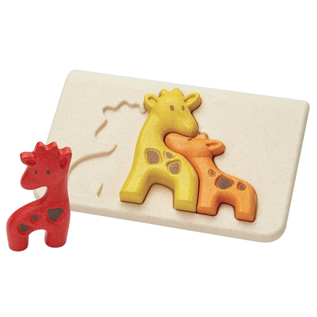 Plan Toys Giraffe Puzzle Children's Early Development Game Toy orange yellow red