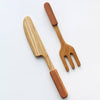 lifestyle_3, Poltora Stolyara Wooden Kitchen Set Children's Pretend Play Toys natural beige fork knife