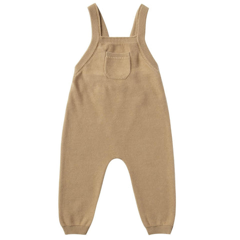 Quincy Mae Knit Overall Infant Baby Clothing Bottoms honey brown yellow