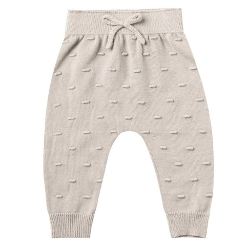 Quincy Mae Knit Pants Organic Cotton Infant Baby Clothing Bottoms fog grey light