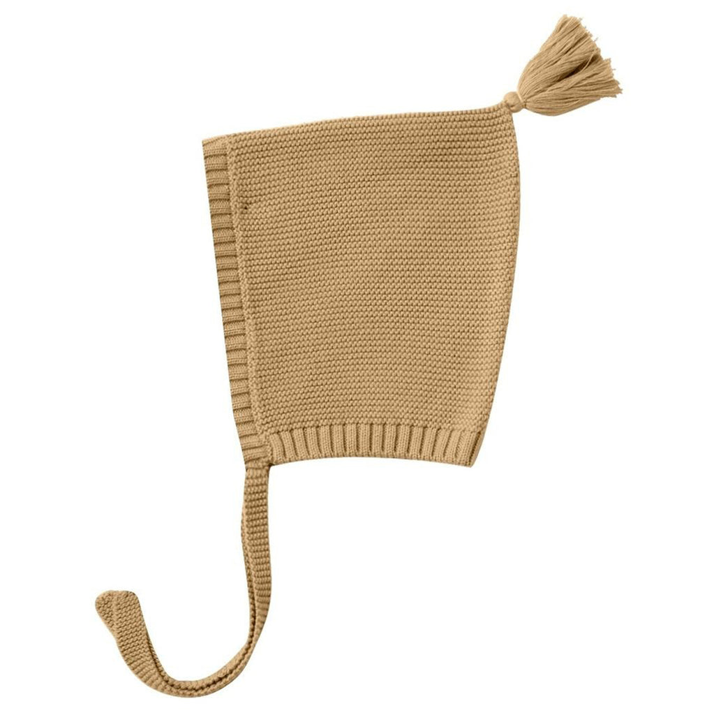 Quincy Mae Knit Pixie Hat Infant Baby Clothing Accessory honey beige yellow