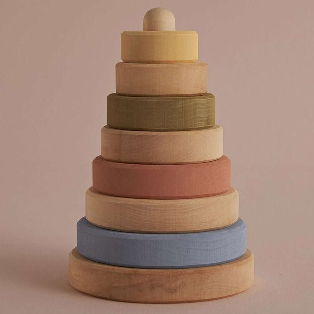 Raduga Grez Pastel/Natural Stacking Tower Children's Wooden Activity Toy earth tones multicolored beige