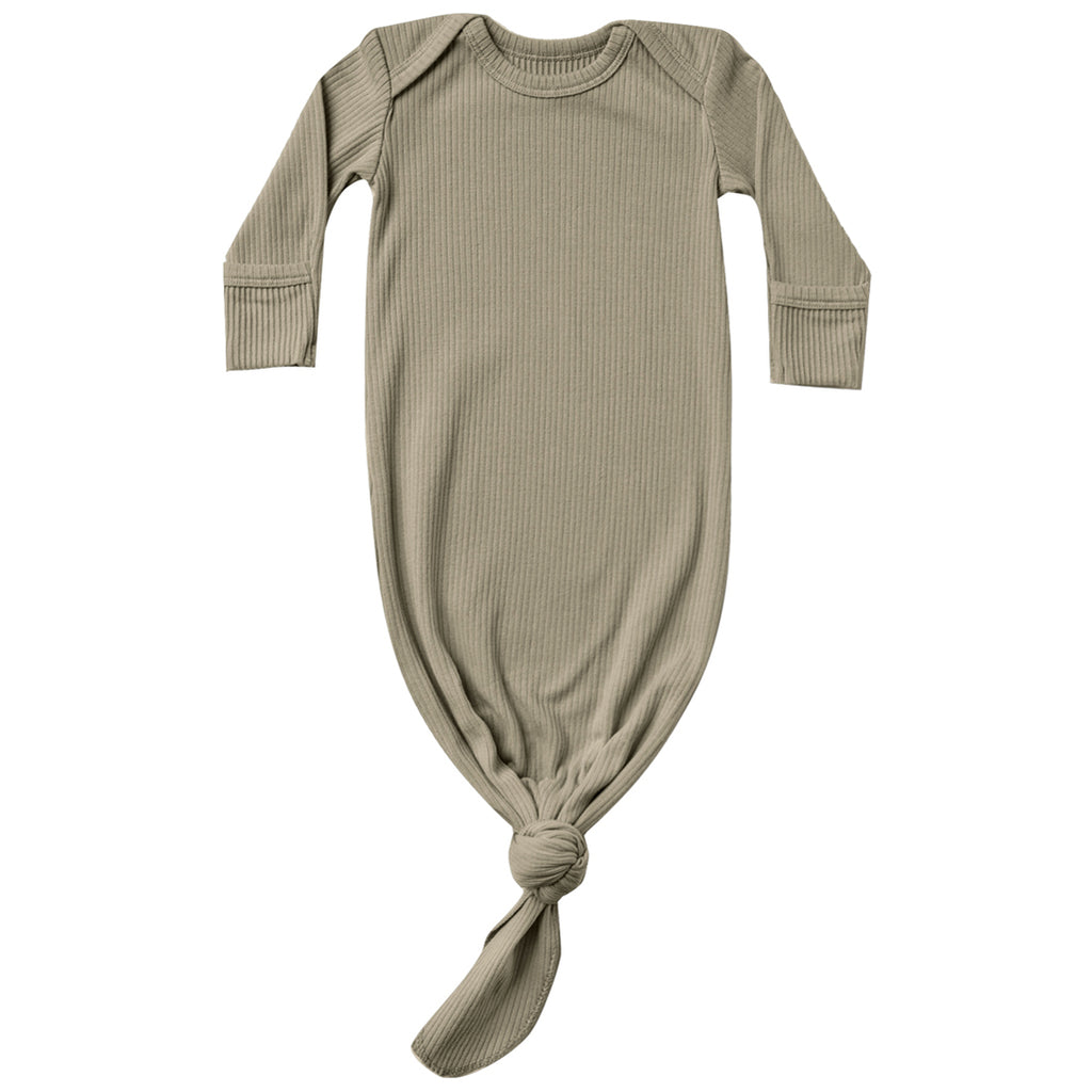 Quincy Mae Sleep Gown Organic Cotton Infant Baby Sleepwear Clothing olive ribbed green