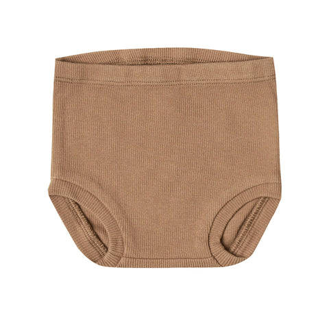 Quincy Mae Organic Cotton Knit Ribbed Infant Baby Bloomer Bottoms copper burnt orange dark