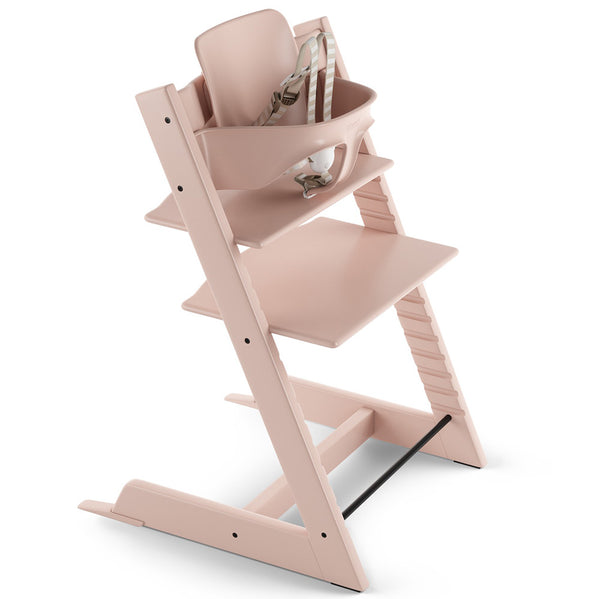 Stokke Wooden Adjustable Ergonomic Tripp Trapp High Chair light serene pink