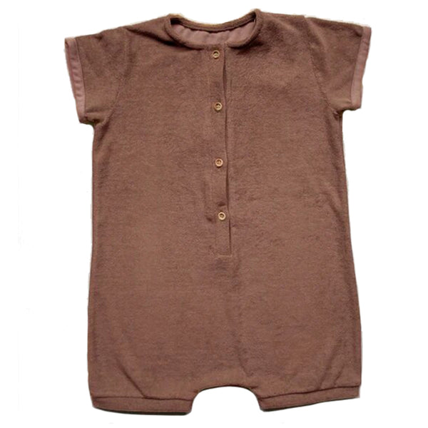 The Simple Folk Daily Playsuit Organic Cotton Infant Baby Romper Jumpsuit cinnamon red