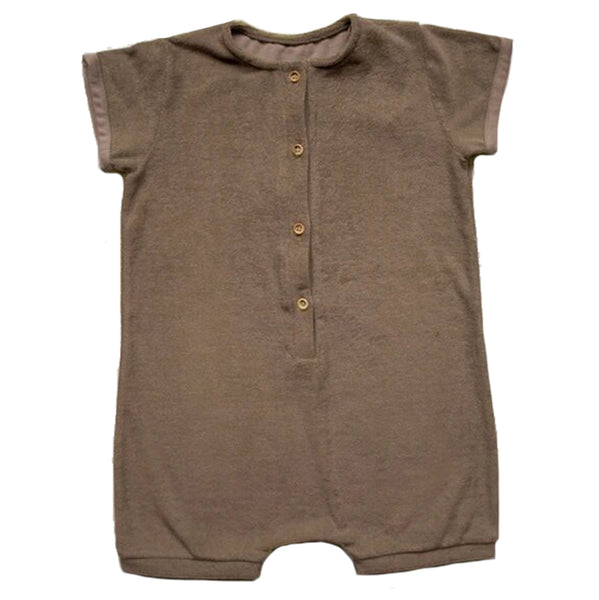 The Simple Folk Daily Playsuit Organic Cotton Infant Baby Romper Jumpsuit walnut brown