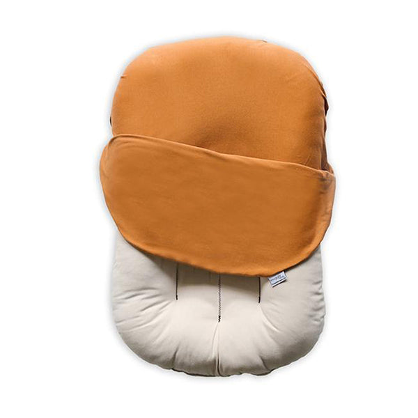 Outlet Snuggle Me Organic Baby and Infant Lounger ember burnt orange dark co-sleeper