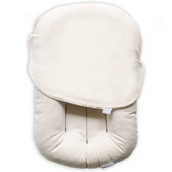 Snuggle Me Organic Baby and Infant Lounger Set natural beige Snuggle Me 100% Organic Cotton Baby and Infant Lounger Set