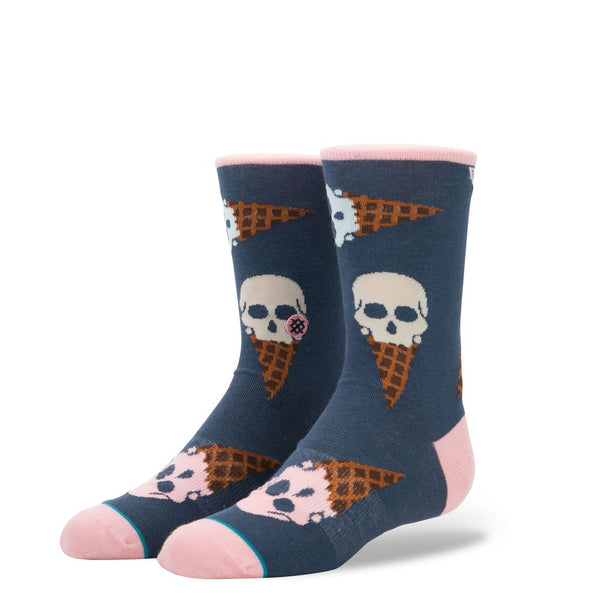 Stance Classic Toddler Boys Socks pattern cone head navy ice cream cone skulls