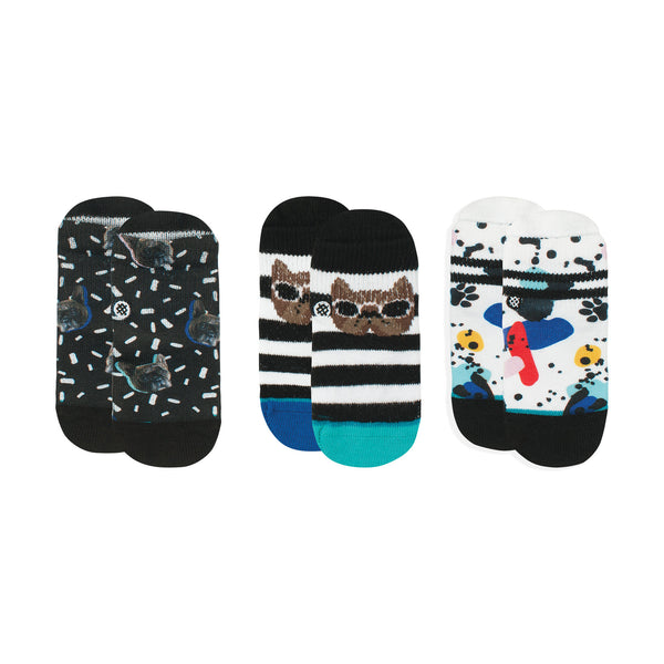 Stance Infant Baby Boys Sock Box Set pattern 3 pack napkin apocalypse dot paint splatter black blue red