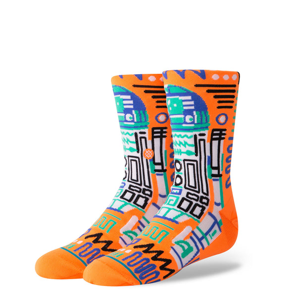Stance Classic Toddler Boys Socks pattern probability star wars r2-d2 robot orange blue
