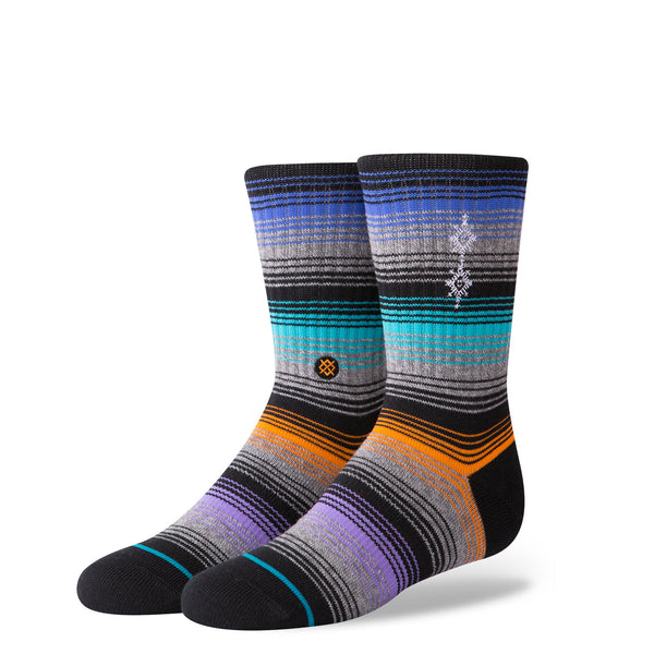 Stance Classic Toddler Boys Socks pattern williamson black blue orange purple stripe