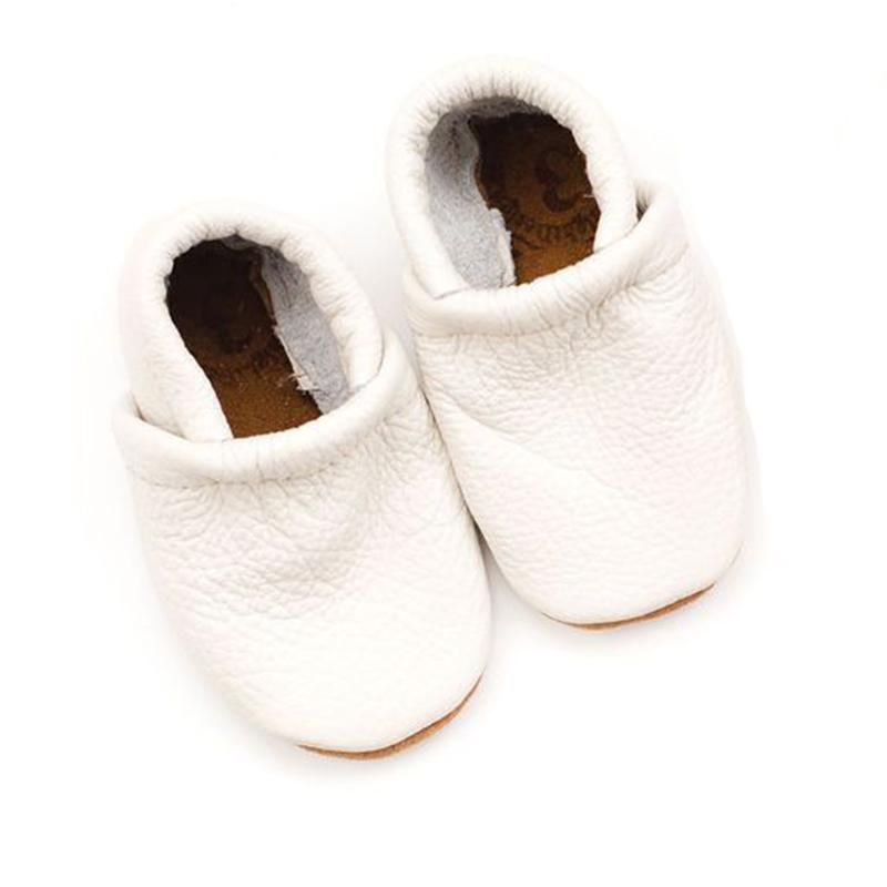 Starry Knight Design Milk Baby Leather Loafers white ivory