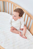 lifestyle_6, stokke oval sleepi junior fitted crib sheet cotton mattress bed