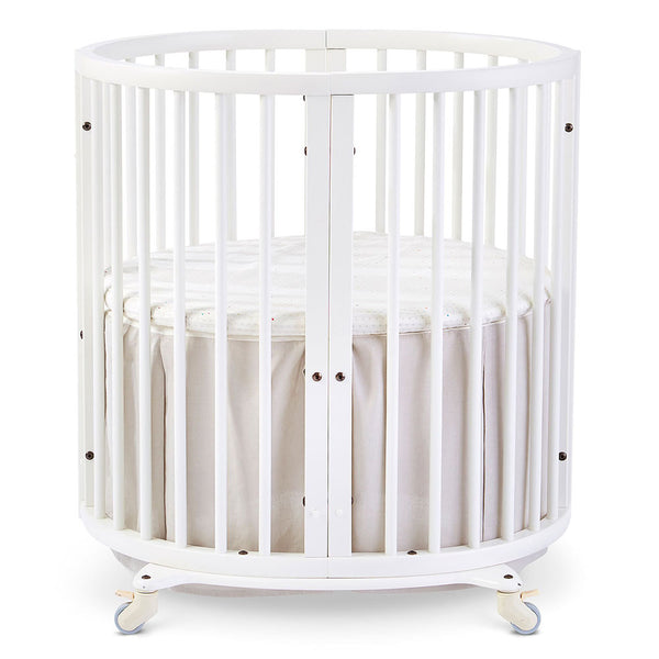 Stokke Sleepi Mini Crib Bed Skirt infant baby light grey